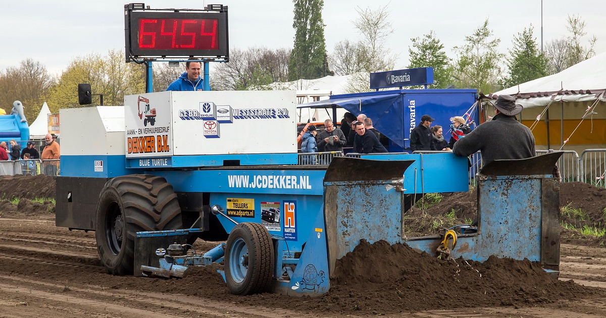 Oldimer Tractorpulling met Blue Turtle in Asten • 04-02-2018