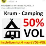Voorbereidingen MDD 2018 - Krum Camping 50% VOL...!!! • 18-03-2018