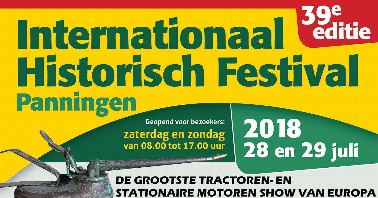 Internationaal Historisch Festival Panningen 28 & 29 juli 2018 • 24-07-2018