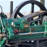 Aangedreven door een Starionaire motor van het merk Tangye herkomst Engeland.