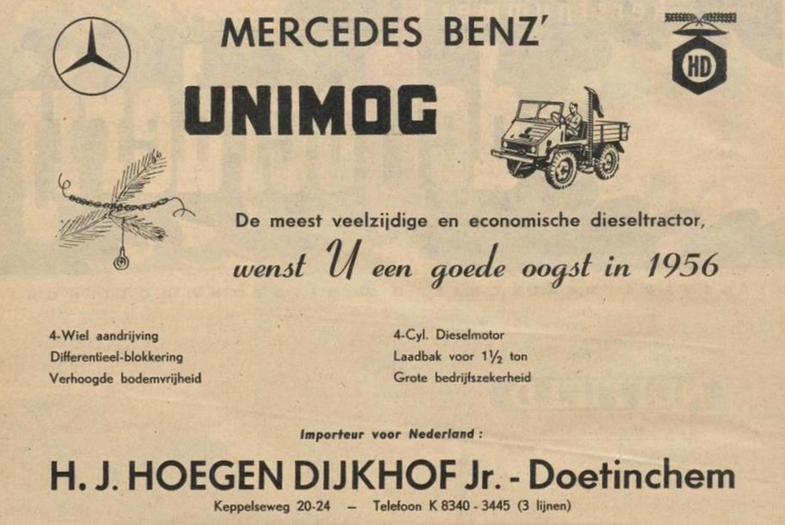 Historie 70-jaar Mercedes Unimog
